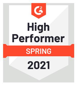 High Performer Fall 2020 award